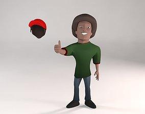 3D model Cartoon Black Guy