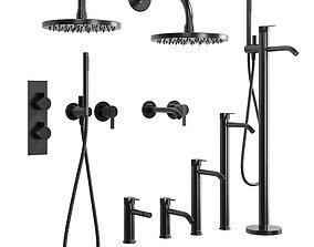 collection Inbani Bathroom faucet set 01 3D asset