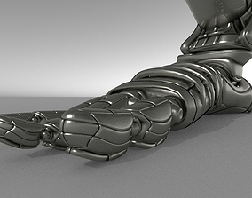 Robot legs version 2 rigged and animated 3D
