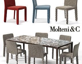 3D asset MOLTENI Glove-up Chair