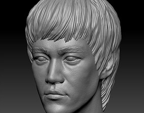 3D printable model actor Bruce Lee