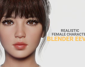 3D asset JOY - Realistic Female Character