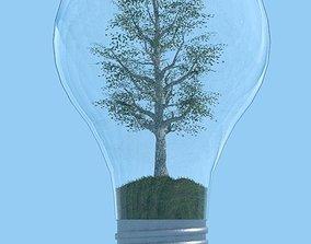 Green Energy Lamp 3D model