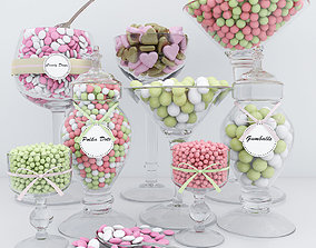 Polka Dots candy bar 3D