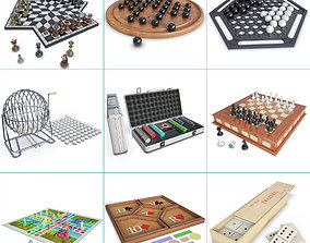 Board Games Collection 3D