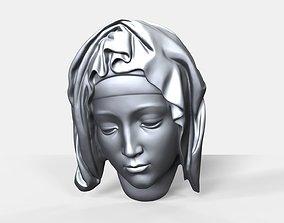 Pieta face bas relief 3D print model