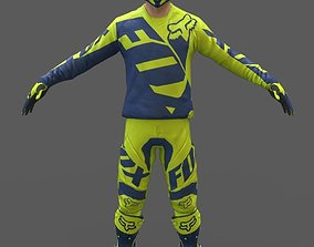 3D model Motocross Racing Suit