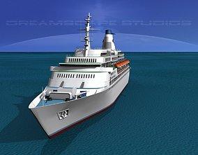 Cruise Ship Pacific Princess 3D model