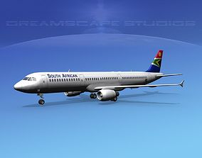 3D Airbus A321 South Africa