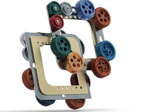 Gear mechanism v 7 3D model