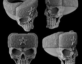 The skull ring in the Russian hat 3D print model