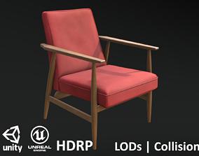 3D asset Soviet Armchair Lisek Red