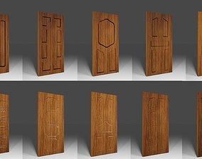 3D asset Wood door pack