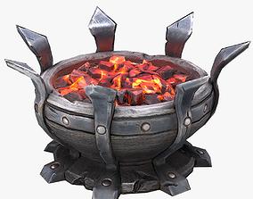 3D model Stylized Dungeon Brazier