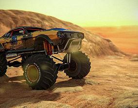 3D asset Monster Car