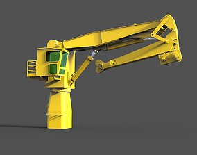 Crane for working deck 3D print model