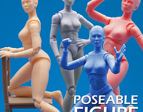 Articulated Poseable Female Figure 3D print model