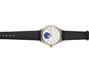3D model Rolex Cellini Moonphase Open Strap