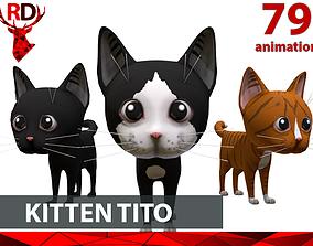 Cute Kitten Tito 3D asset