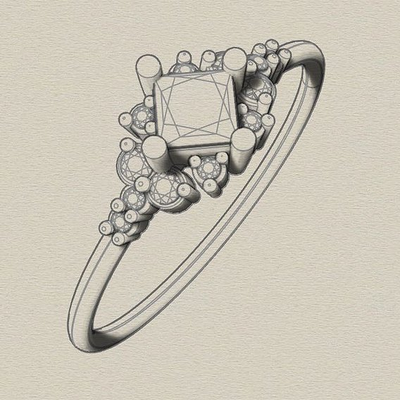 Wedding diamond ring.