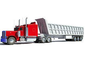 3D model Red Semi Truck
