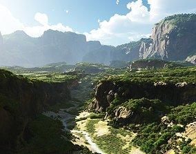 Cracked valley in Vue 3d 3D