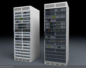 Server Rack Unit Low-Mid Poly 3D asset low-poly