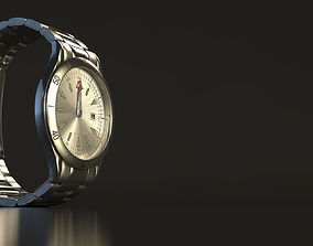 Stainless Steel Watch Rigged 3D