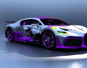 3D model Bugatti Divo CSR2 X Hololive Ookami Mio