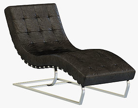 3D model RH Modern Rossi Tufted Leather Chaise