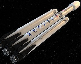SpaceX Falcon Heavy 3D model VR / AR ready