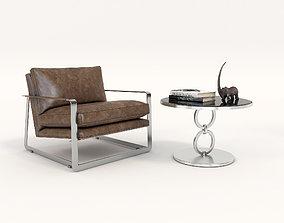 3D Modern Comfortable Reading Chair