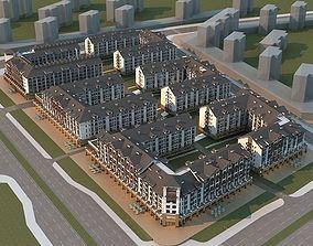 European residential 3D model