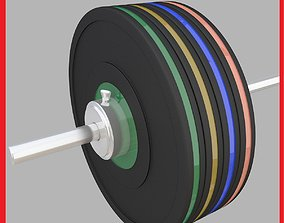 Weight Lifting Barbell 3D model