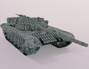 texturing 3d T72b Tank For Game Modeling And Designing