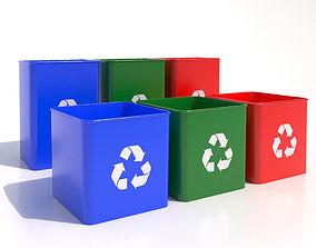 Recycle Bin -04 3D