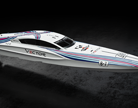 Vector V40R Martini Racing offshore 3D model