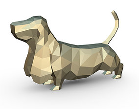 3D print model Basset hound figure