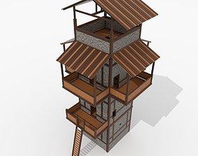Roman Fantasy Watchtower 3D asset