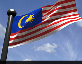 Malaysian Flag 3D model