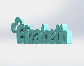 Personalized Keychain - Elizabeth 3D print model