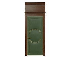 3D model Classic wooden door 03