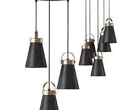 3D asset Suspended chandelier Luminex Atos 7756 3-5