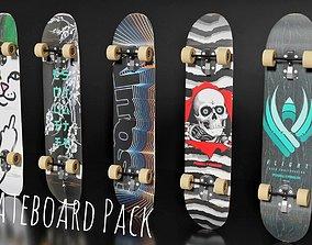 5 Skateboard Pack 3D