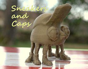 3D print model sneakers and cap