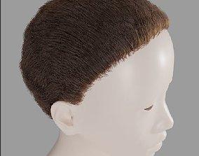Base short particle hair 3D model