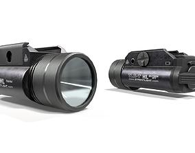 Streamlight TLR1-HL Handgun Weapon Mounted Light 3D asset