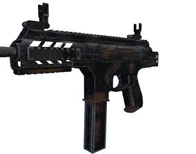 Beretta PMX Submachine Gun 3D asset low-poly