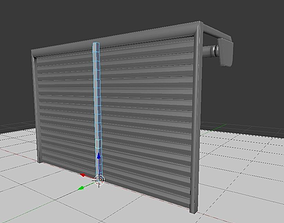 Roller Shutters rigged animated 3D model