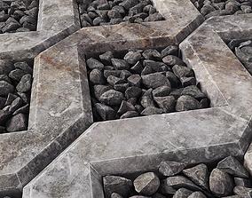Ecoparkin rock pebble 3D